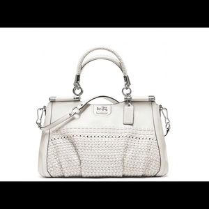 New Coach Madison Woven Carrie 23341 White